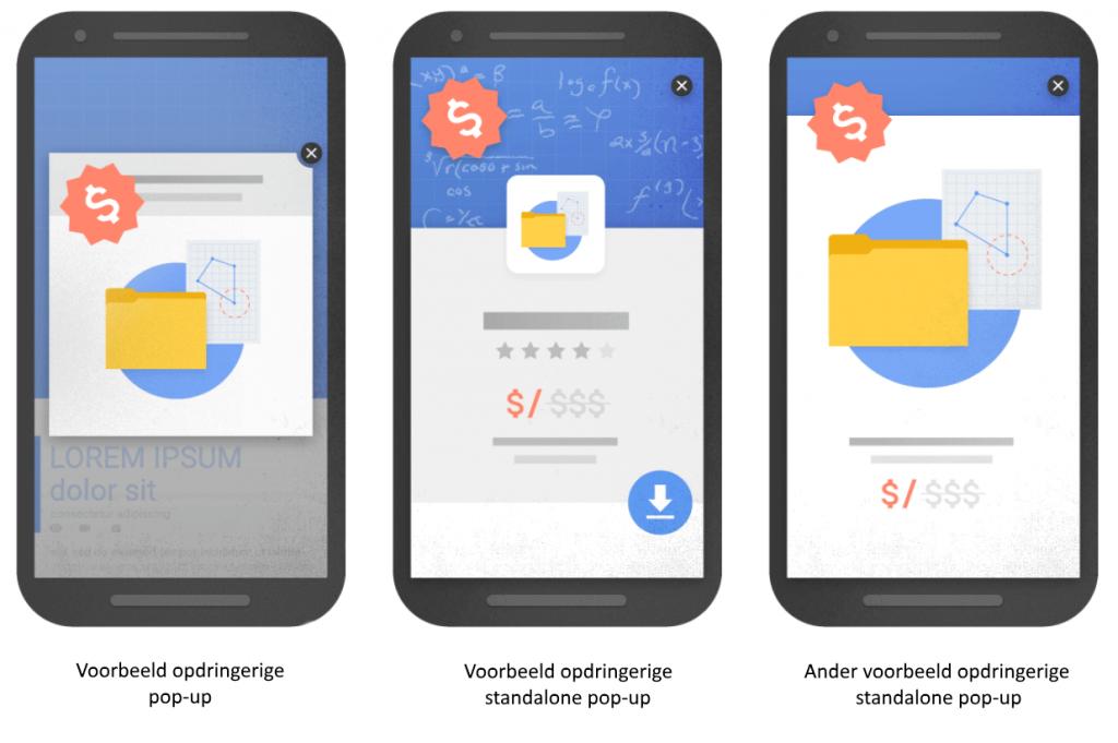 Google straft pop-ups af